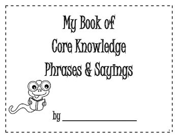 Core Knowledge Sayings and Phrases Book - 1st Grade