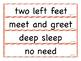 Core Knowledge Skills Unit 2 Phrase Reading Strips