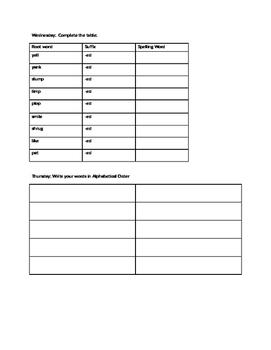 Core Knowledge Spelling Homework Unit 2 Lesson 1