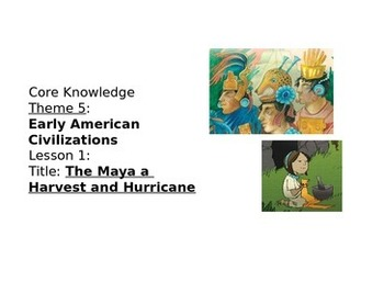 Core Knowledge Theme 5 First Grade American Civilizations Vocabulary Cards