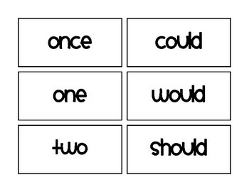 Core Knowledge Unit 1 Tricky Words