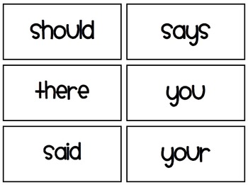 Core Knowledge Unit 3 Tricky Words