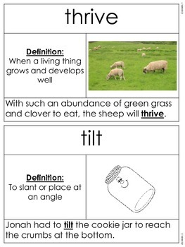 Core Knowledge Vocab Cards: Cycles in Nature {2nd grade}