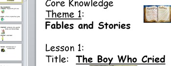 Core Knowledge first grade Vocabulary Cards Unit 1 Fables