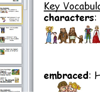 Core Knowledge first grade Vocabulary Cards Unit 3 CCSS Different Lands