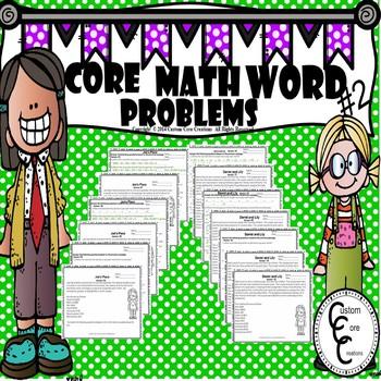 Core Math Word Problems #2