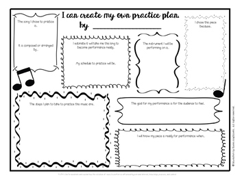 Core Music Standards:  Performance Practice Plan & Rehearsal Reflection