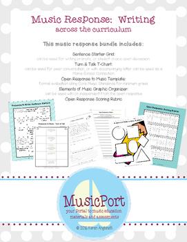 Core Music Standards:  Response through Writing
