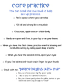 Core Practice Mindful Breathing and Mindful Listening Poster