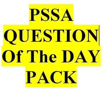 PSSA Question of the Day Linked to PA Core and Common Core 3rd to 6th