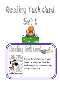 Core Reading Comprehension Task Cards - for any fiction book