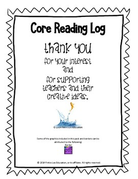 Core Reading Log