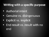 Core Rhetorical Elements (AP Language & Composition & Pre-