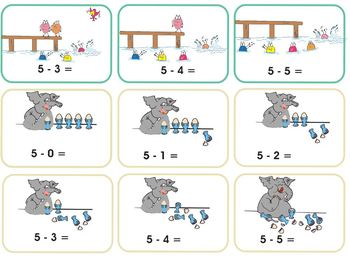 Core Skills Early Learning - Subtraction Math Cards – up to 5