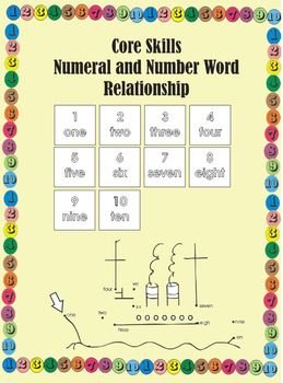 Core Skills - READING NUMERALS ONE TO TEN