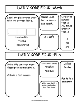 Free Trial - 5th Grade ELA and Math Skills Workbook