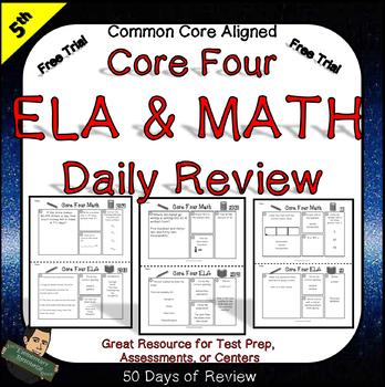 Free Trial - 5th Grade ELA and Math Skills Workbook