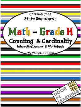 Common Core State Standards Math - Grade k, Counting & Cardinality