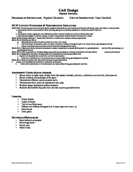 Core Standards: Team Handball