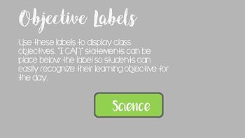 Core Subject Label