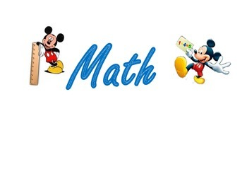Mickey Mouse core subject and word wall labels