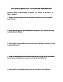 Core Topics : Social Relationships : identity writing activity