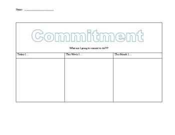 Core Values- Commitment Activity