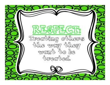 Core Values- Respect, Responsibility, Cooperation, Learning,and Friendship