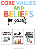 Core Values and Beliefs - 14 Posters 8x10