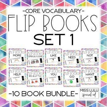 Core Vocab Flip Books Set 1 {Growing Bundle}