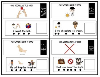 Core Vocabulary Flip Book Bundle: Set 1