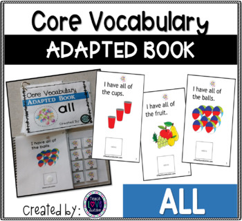 Core Vocabulary Adapted Book: ALL