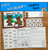 """Core Vocabulary Adapted Book, """"Bear Says No"""""""