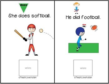 Core Vocabulary Adapted Book: Do, Does, Did