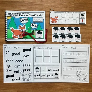 """Core Vocabulary Adapted Book:  """"Fox Says Good"""""""