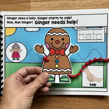 "Core Vocabulary Adapted Book:  ""Ginger Needs Help"""