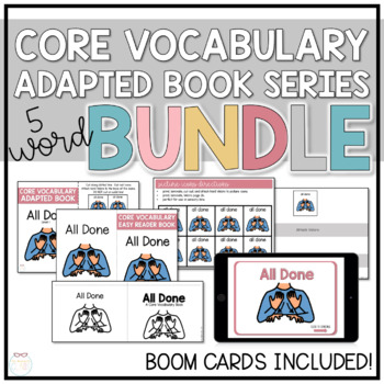 Core Vocabulary Adapted Book Bundle - I, Want, See, More, All Done
