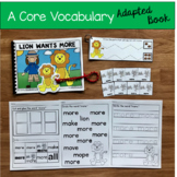 """Core Vocabulary Adapted Book:  """"Lion Wants More"""""""