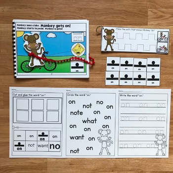 """Core Vocabulary Adapted Book:  """"Monkey Gets On"""""""