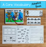 "Core Vocabulary Adapted Book:  ""Monkey Gets On"""