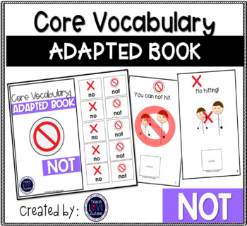 Core Vocabulary Adapted Book: NO-NOT