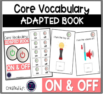 Core Vocabulary Adapted Book: ON-OFF