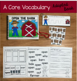 "Core Vocabulary Adapted Book:  ""Open The Barn"""