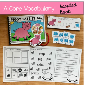 "Core Vocabulary Adapted Book:  ""Piggy Eats It All"""