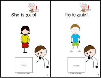 Core Vocabulary Adapted Book: QUIET