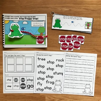 """Core Vocabulary Adapted Book-""""Stop Froggy Stop!"""""""