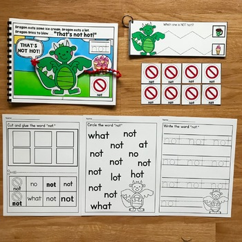 "Core Vocabulary Adapted Book:  ""That's Not Hot!"""
