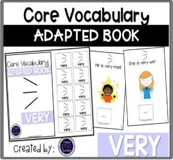 Core Vocabulary Adapted Book: VERY