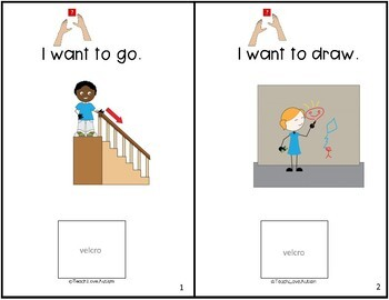Core Vocabulary Adapted Book: WANT