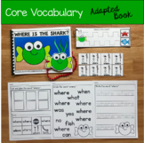 """Core Vocabulary Adapted Book:  """"Where Is The Shark?"""""""